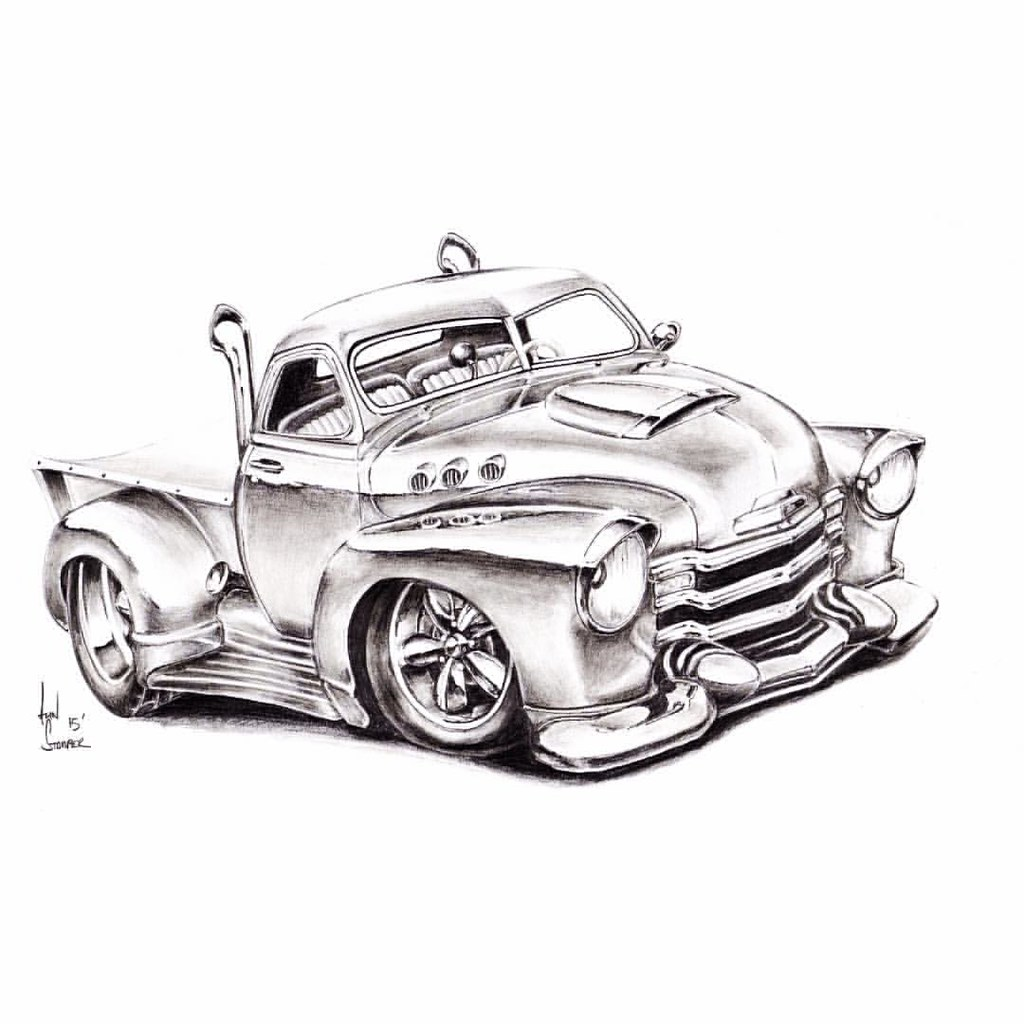 image of chevy truck cartoon 195052 chevy truck wall decal