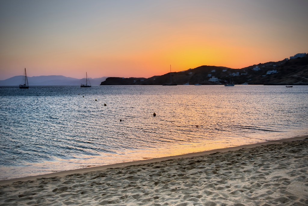 Sunset on Mylopotas Beach
