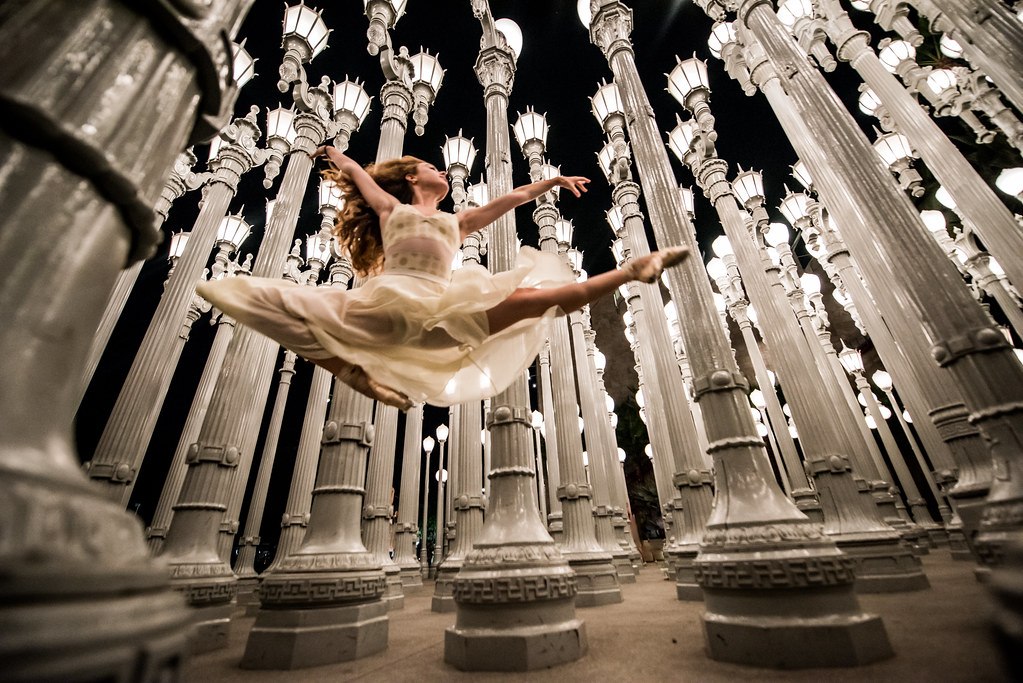 ... Ballet Urban Light Sculpture! LACMA Collections! Nikon D810 Ballet  Photos Of Pretty Ballerina Dancing