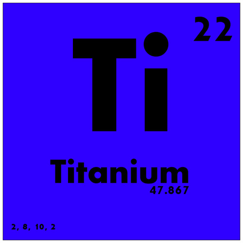 022 Titanium Periodic Table Of Elements Watch Study