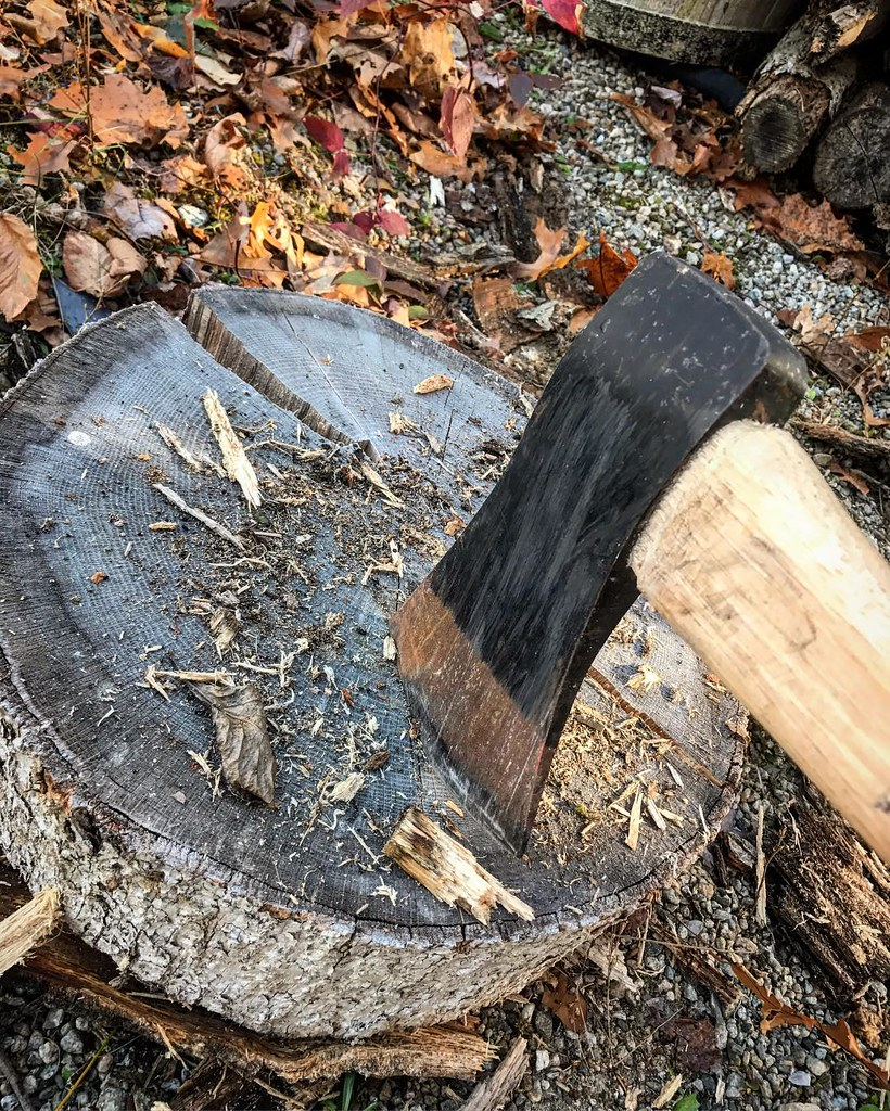 Nothing like a little ax and wood therapy to clear the mind.