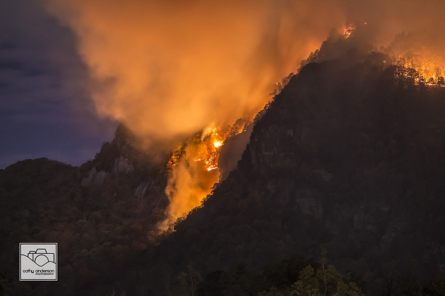 Lake Lure Wildfire 4