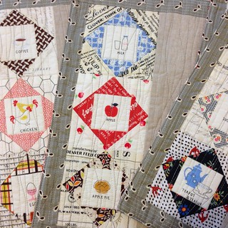 Close up of some of the fussy cuts and quilting by @katmama367 #sewingsistersbirthdayswap | by Crabapple Quilts