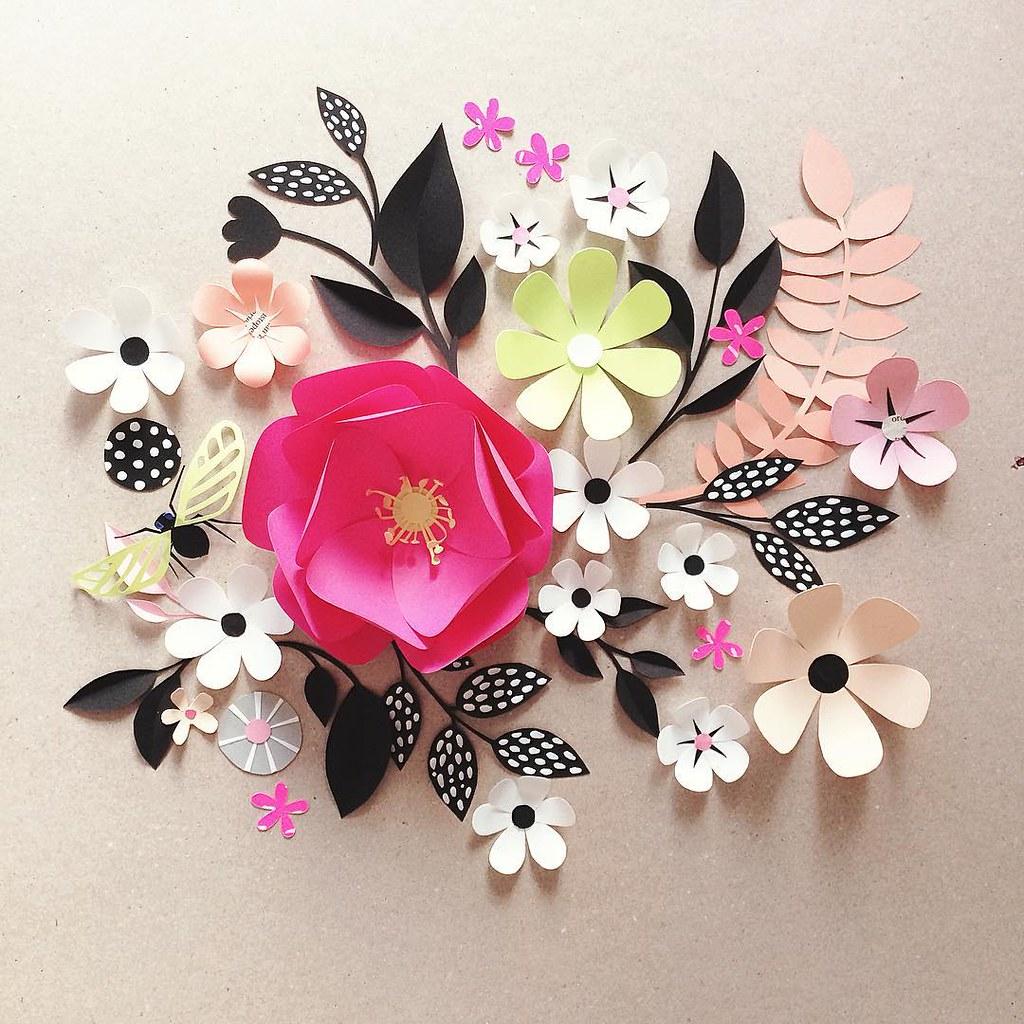 Scandinavian Style Paper Sculpture Flowers Created By Hann Flickr