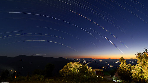 Twilight and startrails | by ShikharF8