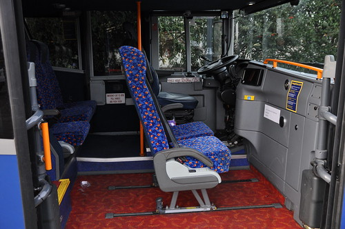 Stagecoach Megabus Inside One Of The Left Hand Drive Van