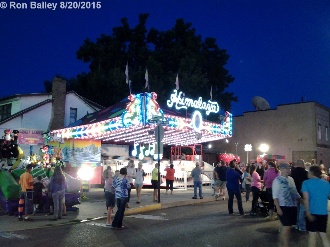 Parade of the Hills - The Midway at Night