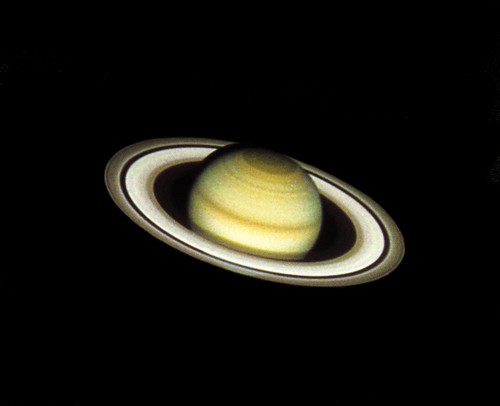 Saturn - taken with the Hubble Space Telescope #tbt   Flickr