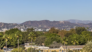 hollywood hills view from laccma | by Eva Blue