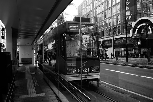 Tramcars at Sapporo on NOV 20, 2016 (4)
