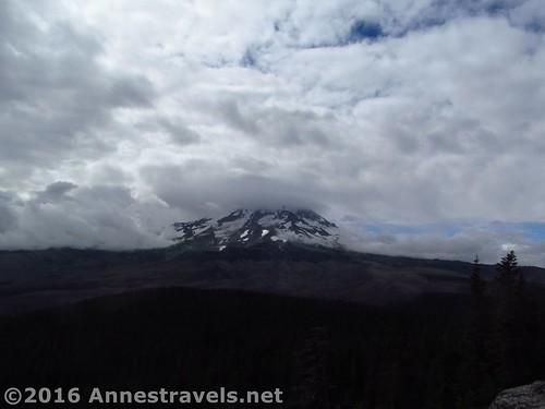 Clouds over Mt. Hood from Owl Point, Mount Hood National Forest, Oregon