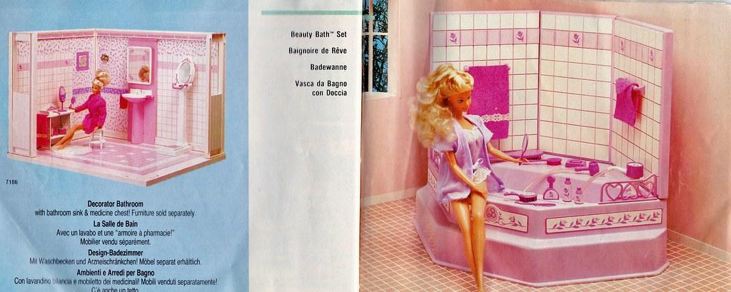 ... 1987 Living Pretty Barbie Decorator Bathroom #7106 // 1987 Living  Pretty Barbie Beauty Bath
