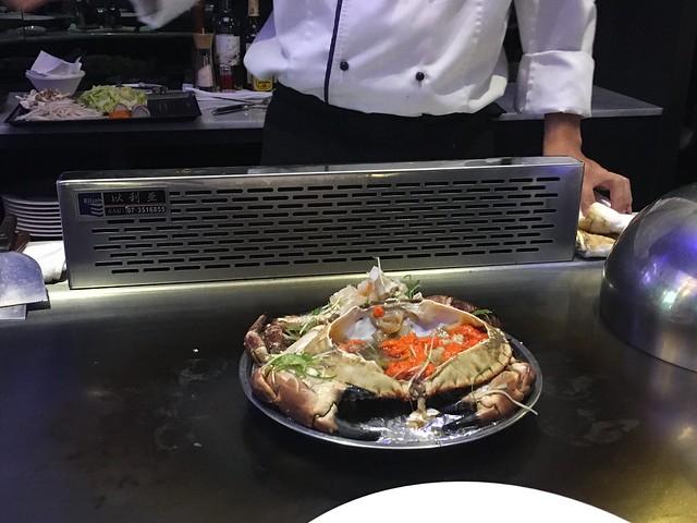 剛剛的大螃蟹@台中西屯,日橡精緻鐵板料理