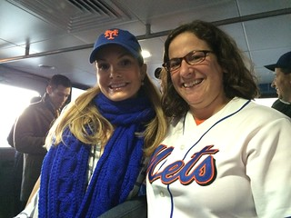Me with Mike Piazza's wife Alicia | by Julie Rubes