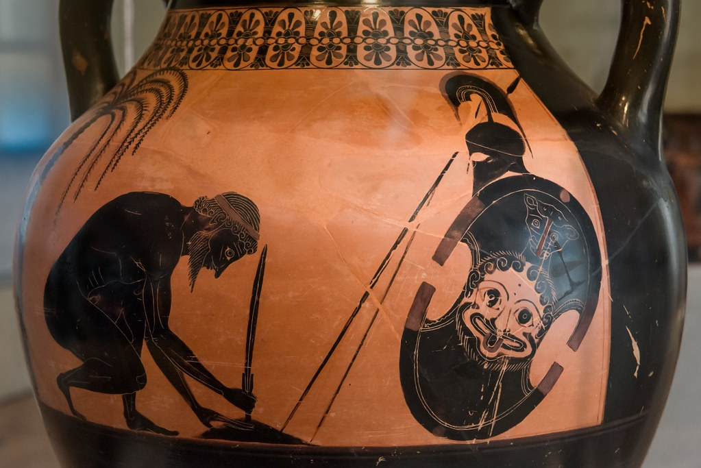Exekias The Suicide Of Ajax Ii The Amphora Side A Th Flickr