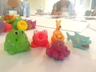 Little toys used for an activity in the pre-conference workshop I went to