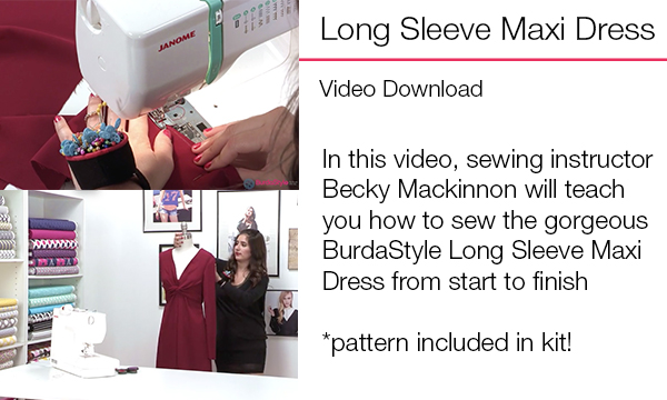 Long sleeve maxi dress video