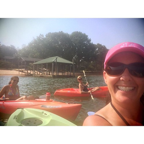 A day at the lake is worth a month in town. #lakelife #lakegirls #kayak #paddle | by thelucaszoo