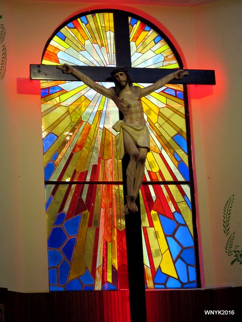 Crucifix and Stained Glass
