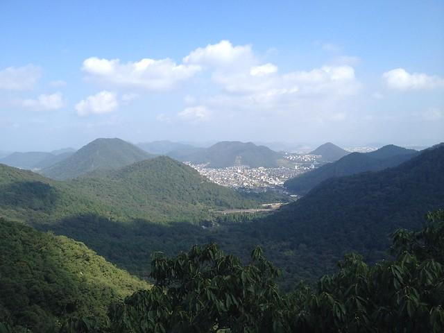 金華山 東坂登山道 尾根コースから日野市街