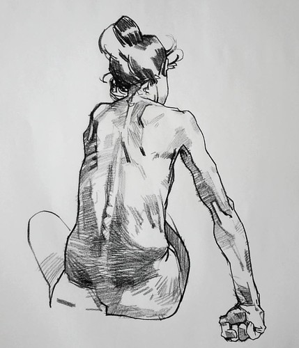 Conte on paper #art #drawing #figure #lifedrawing #aaroncoberly #instart | by aaroncoberly