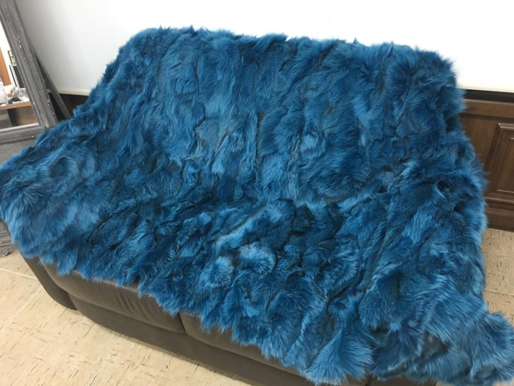 blue fox blanket