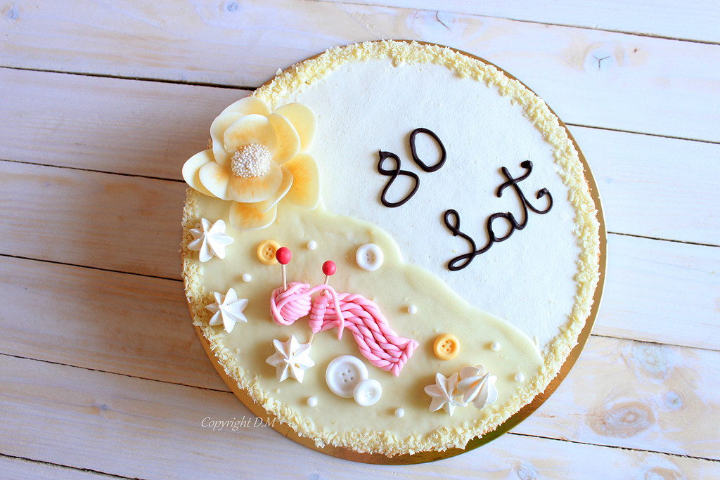 Birthday Cake For 80 Years Old