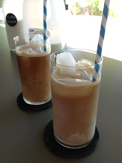 Iced latte & iced coffee + horchata #horchata #drinks #coffee #espresso | by *FrogPrincesse*
