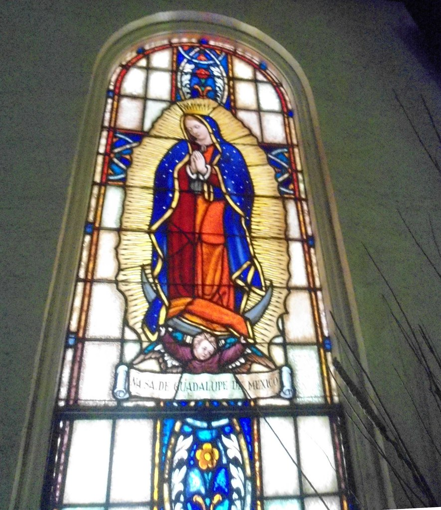 Beautiful Our Lady Of Guadalupe Stained Glass Window At Solitude Catholic Church In