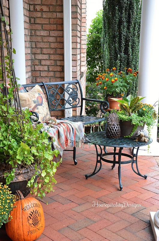 Fall Porch - Housepitality Designs