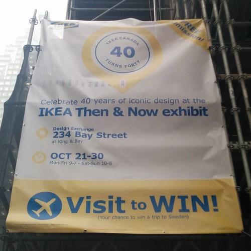 Here for #ikeacan40 #toronto #designexchange #ikea #financialdistrict
