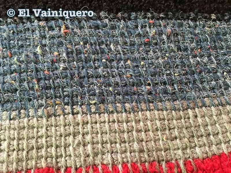 Manta de restos de lana