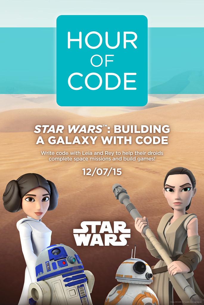 HOUR OF CODE + STARS WARS | Poster | Disney Interactive Desi