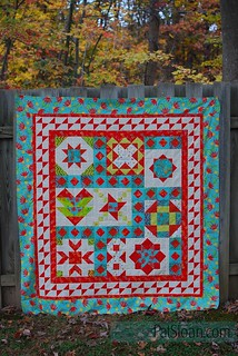 pat sloan vacation time final quilt aqua | by quilterpatsloan
