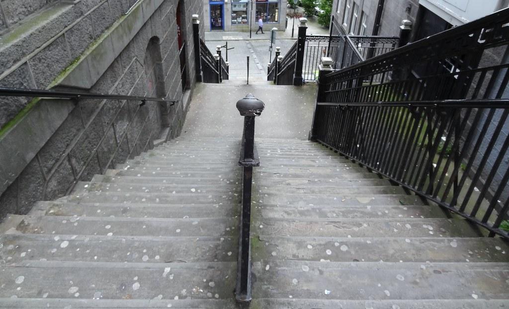 ... Crown Terrace, Granite Stairs To Bridge Street, Aberdeen | By Aberdeen  Granite
