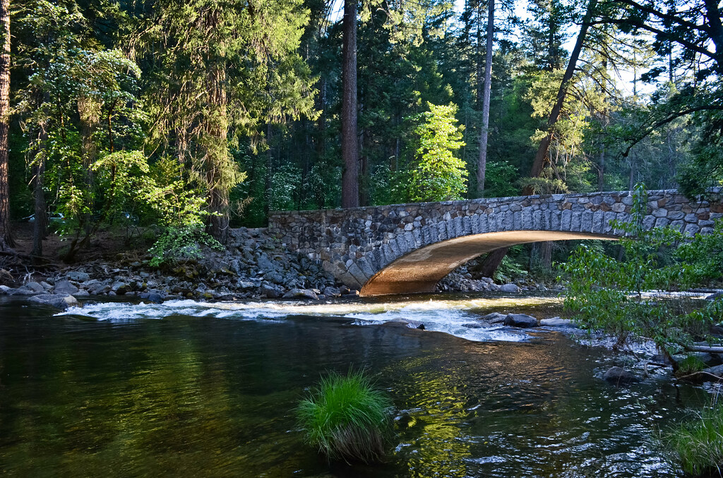 Sugar Pine Bridge, au parc Yosemite