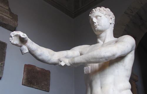 Lysippos, Apoxyomenos, looking up | Lysippos, Apoxyomenos ...  Lysippos, Apoxy...
