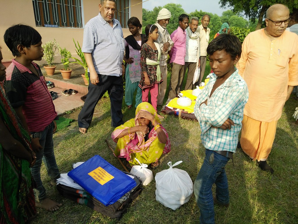 Flood Relief at Rewa (Madhya Pradesh) by Ramakrishna Mission, Allahabad