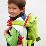 Frog Backpack - Free Crochet Backpack Pattern