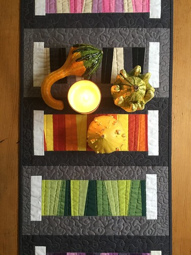 """Variegated Threads Table runner. Pattern available in my Craftsy shop, search for """"Poppyprint"""" on the Craftsy homepage."""
