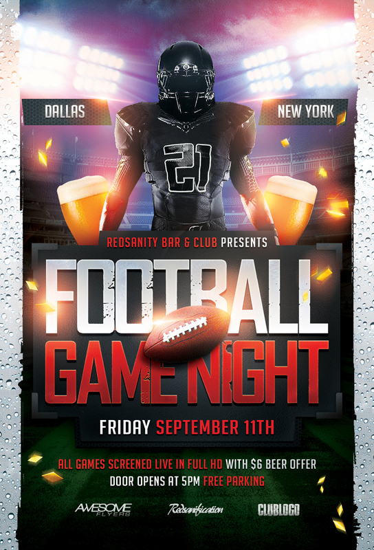 Football Game Night Flyer Psd Template Download The Photos Flickr
