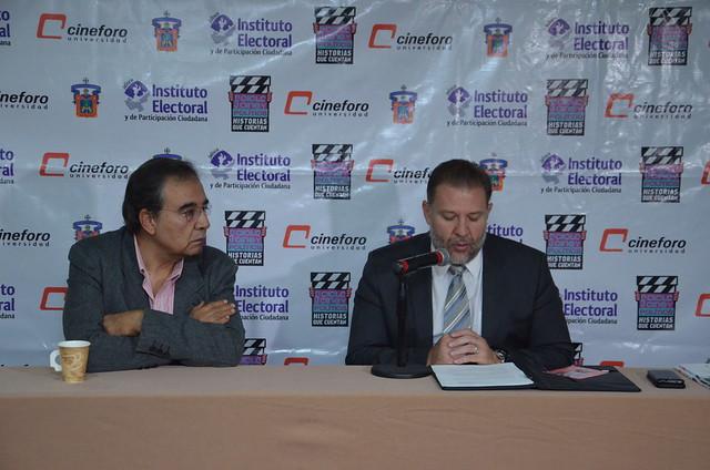Rueda de Prensa 5to Ciclo de Cine y Poli´tica, Historias que Cuentan, cuyo tema central sera´ la No Discriminacio´n 01 noviembre 2016