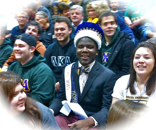 Drexel homecoming king celebrates