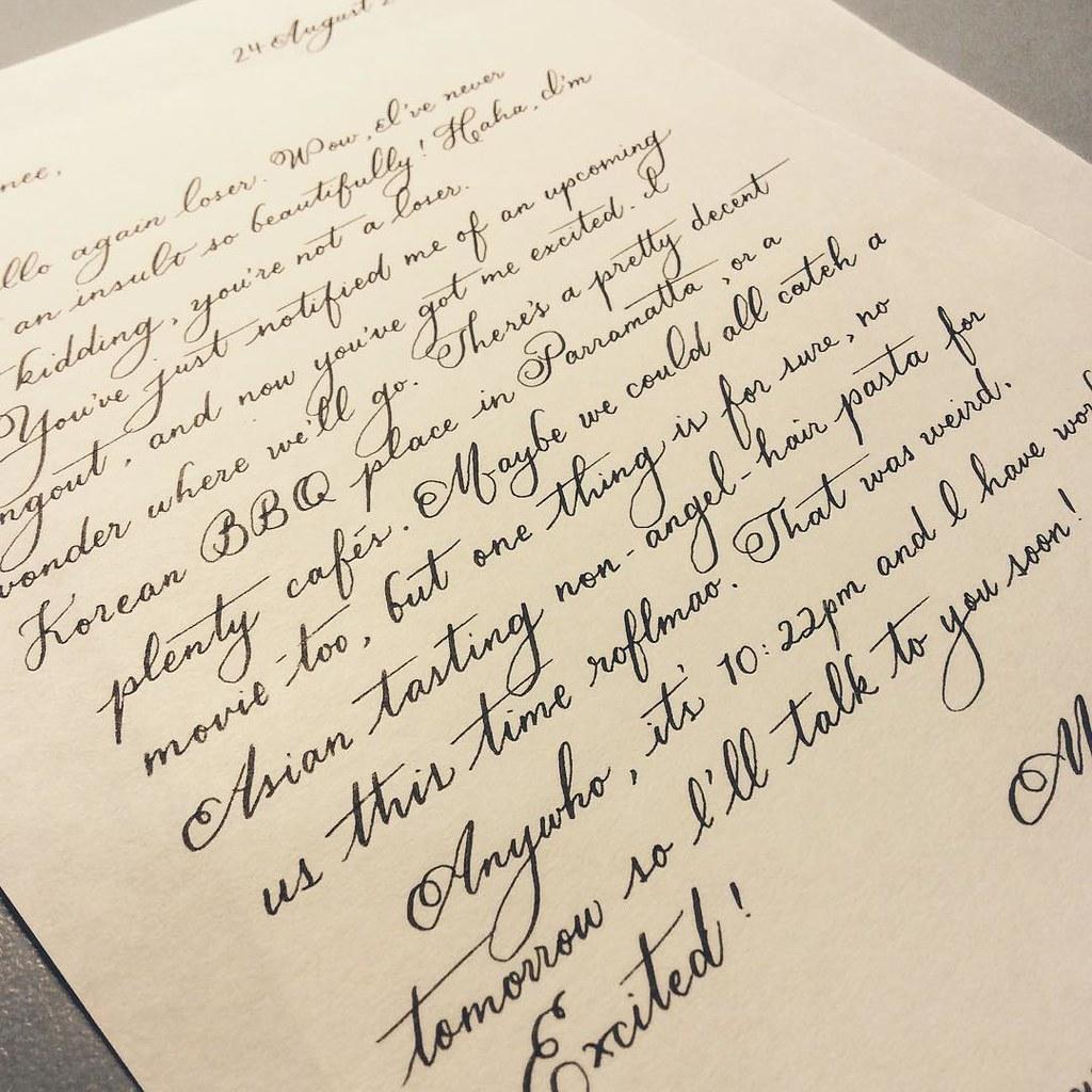Old fashioned handwriting alphabet 42