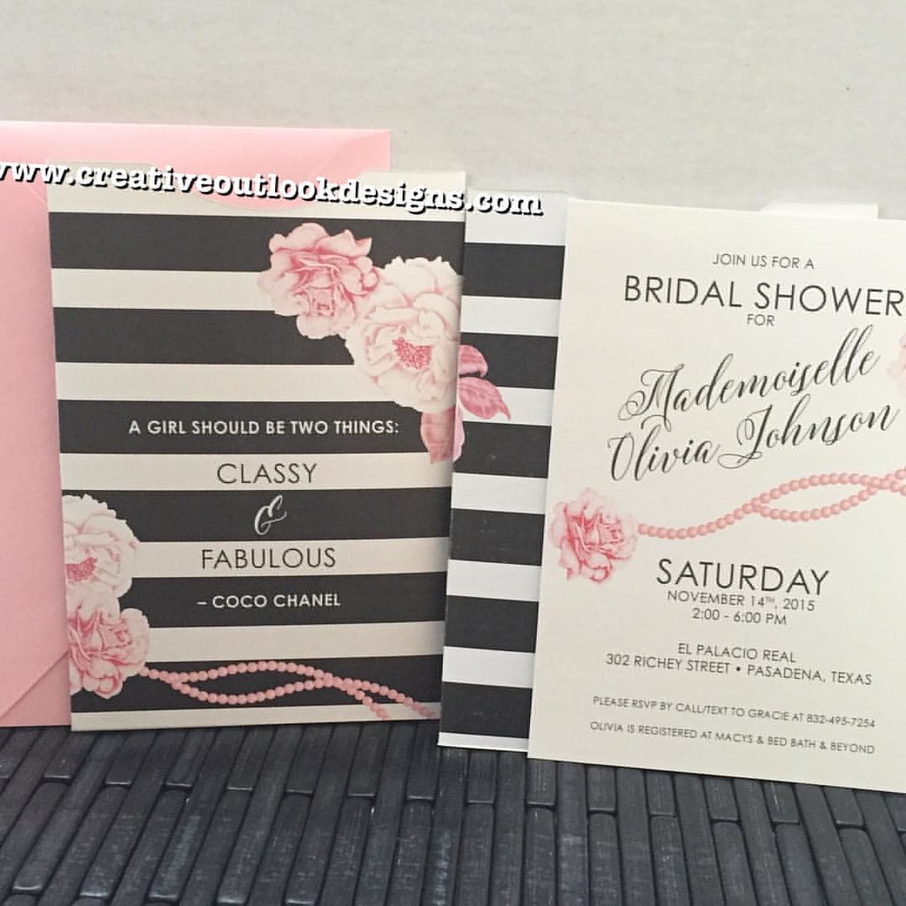 Coco chanel inspired bridal shower invitations customi flickr coco chanel inspired bridal shower invitations custominvitations invitationdesigner nyceventplanner filmwisefo