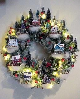 Christmas village wreath | by Bazmia