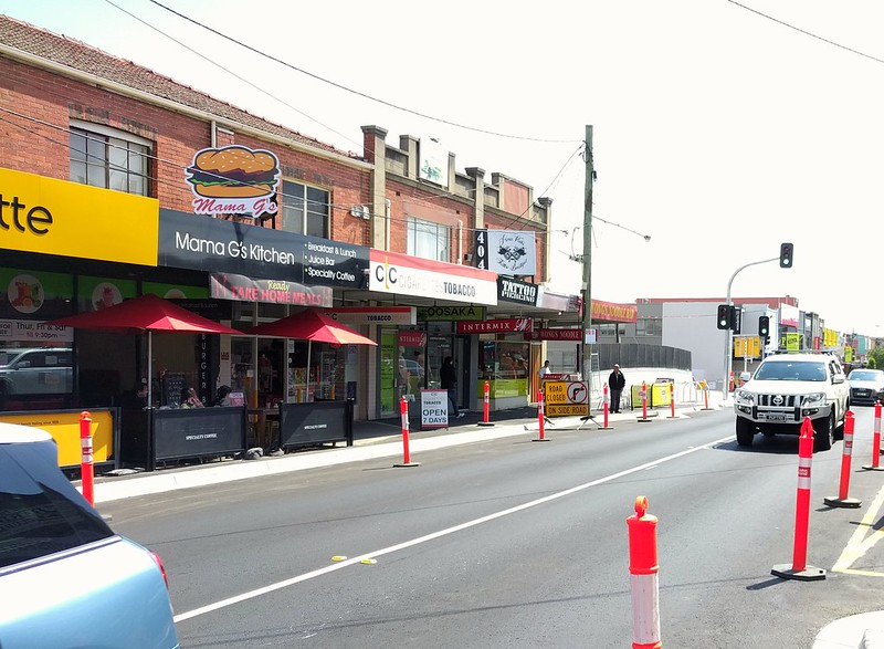 Bentleigh - new site of westbound 703 bus stop