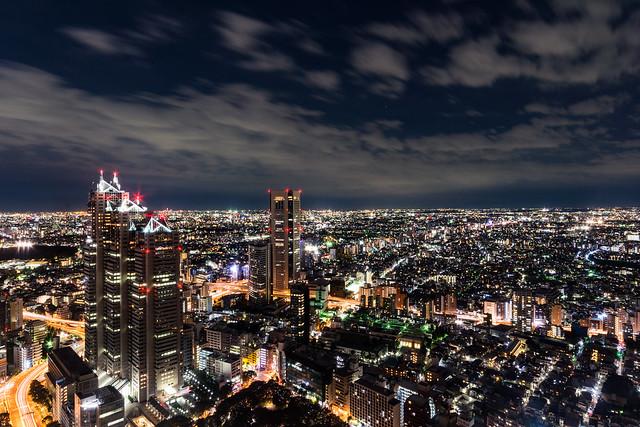 都庁展望室からの夜景