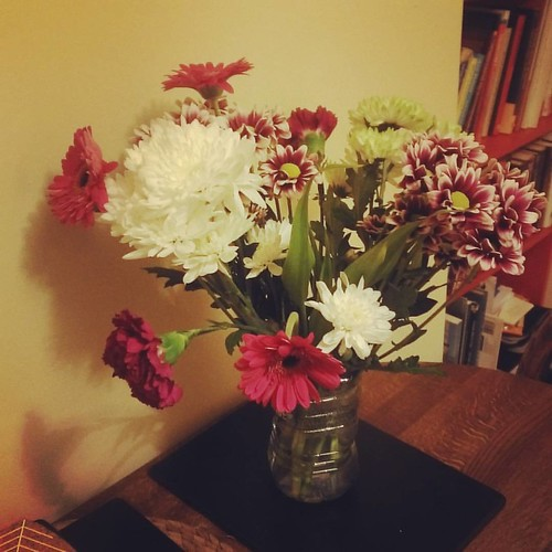 House warmed! Thanks to colleagues for gorgeous flowers & more alcohol than I can safely consume :) | by girlwithtrowel