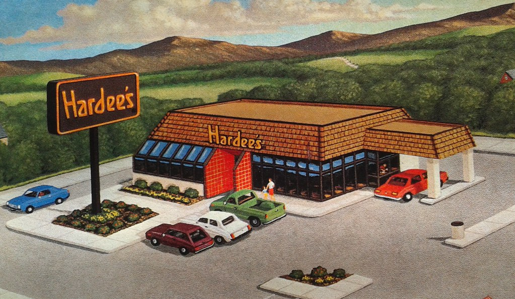 hardee s road map and restaurant location guide 1989 flickr